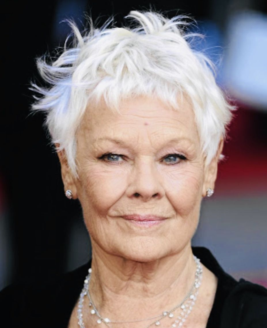 judy dench grey hair