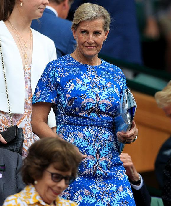 sophie wessex blue dress wimbledon z